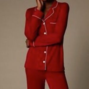 Love & Lore Red Piped PJ Set